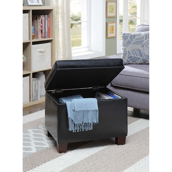 buy faux leather ottomans storage