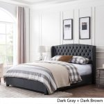 Shop Black Friday Deals On Virago Contemporary Fully Upholstered Low Profile King Size Platform Bed Frame By Christopher Knight Home On Sale Overstock 24262177