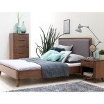 Kirkwood American Walnut Mid Century Modern King Platform Bed On Sale Overstock 25443852
