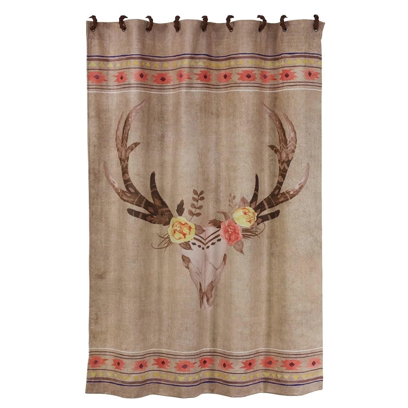 hiend accents desert skull shower curtain 72x72