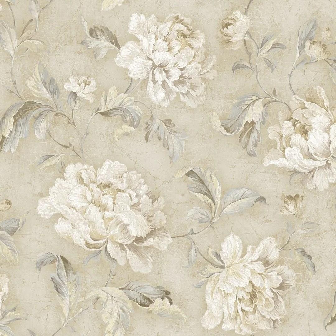 Shop Vintage Floral Trail Wallpaper Overstock 25575738