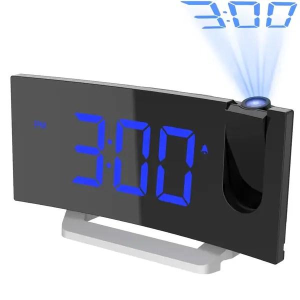 Fm Radio Alarm Clock 5 Inch Curved