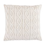 Hiend Accents Cable Knit Euro Sham 26x26 Cream Overstock 25634454