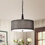 Shop Penelope Woven Black 18 Inch Drum Pendant Lamp Overstock 25686453