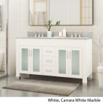 Details About Holdame Contemporary 60 Wood Double Sink Bathroom Vanity