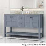 Jamison Contemporary 60 Wood Double Sink Bathroom Vanity With Carrera Marble Top By Christopher Knight Home Overstock 25716194