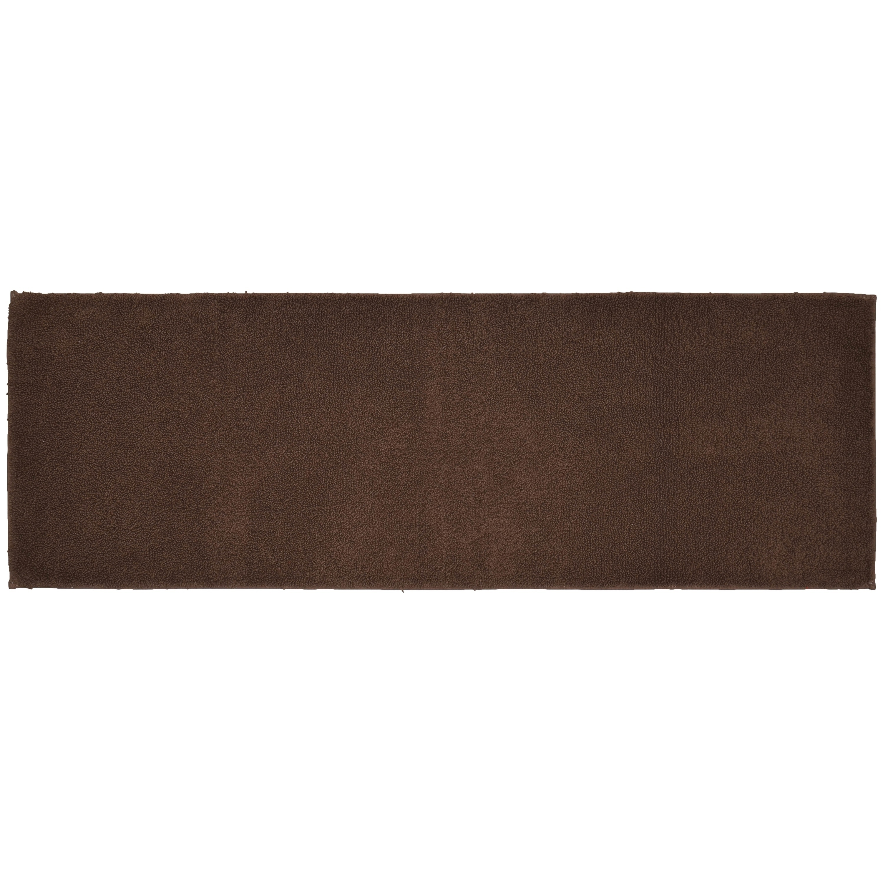 queen cotton chocolate washable bath rug runner