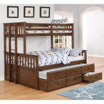 Copper Grove Kolomyia Distressed Walnut 3 Drawer Bunk Bed Overstock 25860190 Twin