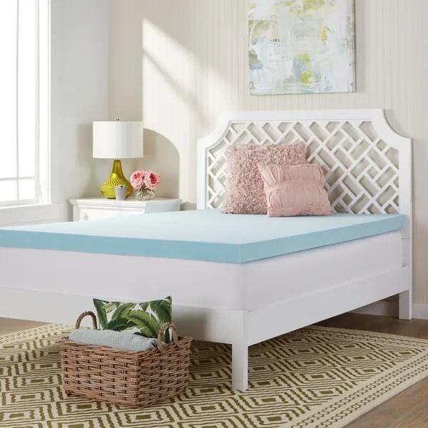 Memory Foam Mattress Toppers Comfort Dreams X27 Mem Cool 3 Inch
