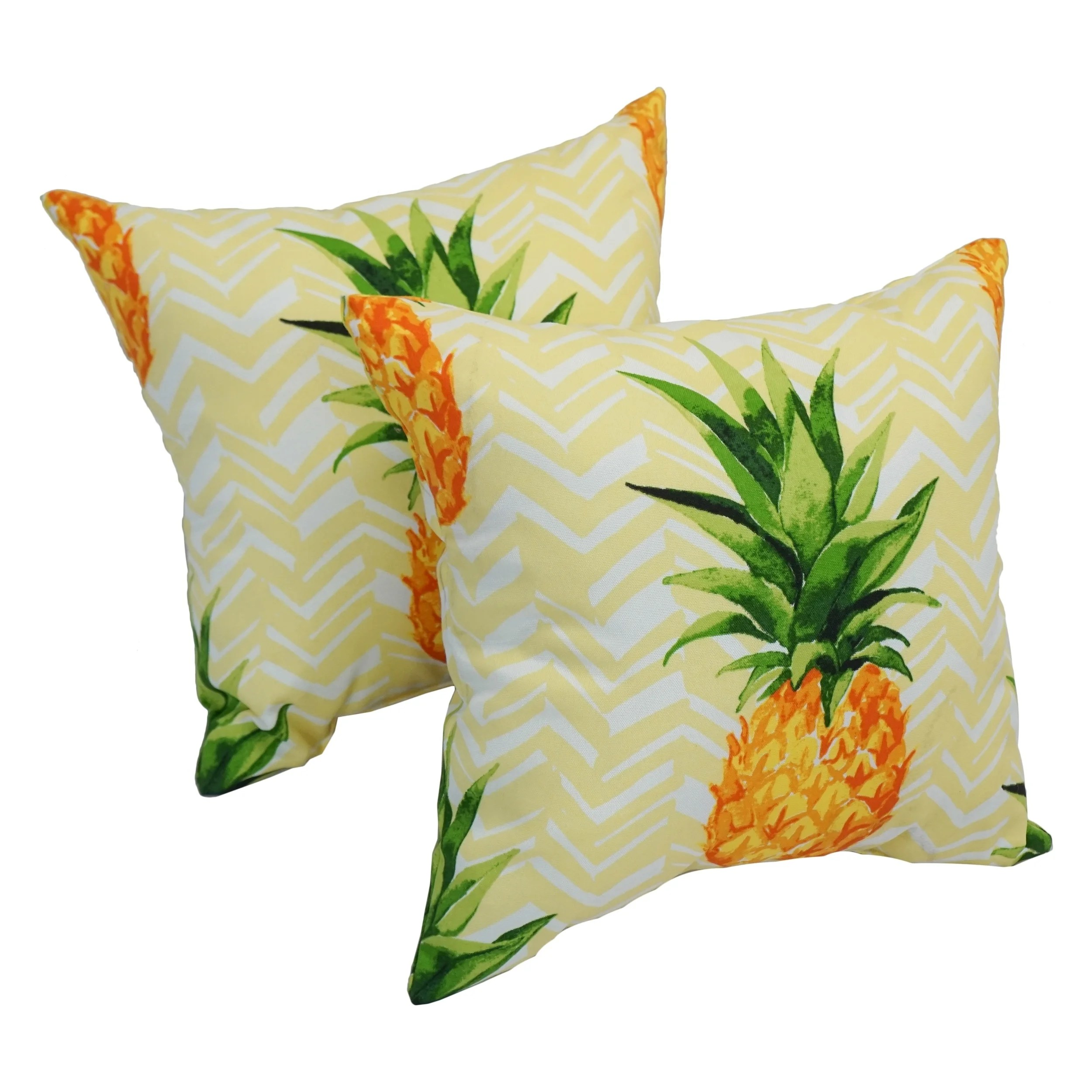 solarium pineapple party 17 inch indoor outdoor throw pillows set of 2