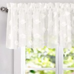 Driftaway Olivia White Voile Chiffon Sheer Window Curtain Valance 60 Wx18 L Overstock 26419774