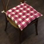 Buffalo Check Tufted Chair Pads 16 X16 Burgundy 16 X16