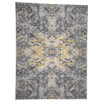Shahbanu Rugs Abstract Design Wool And Silk Hand Knotted Modern Rug 9 0 X 12 0 9 0 X 12 0