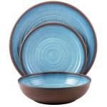 Melange 12 Pcs Melamine Dinnerware Set Clay Collection Color Light Blue Dinner Plate Salad Plate Soup Bowl 4 Each Overstock 27168047