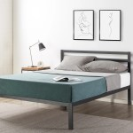Shop Black Friday Deals On 14 Inch Metal Platform Bed With Headboard Wooden Slat Support Mattress Foundation No Box Spring Needed Crown Comfort Overstock 27280045