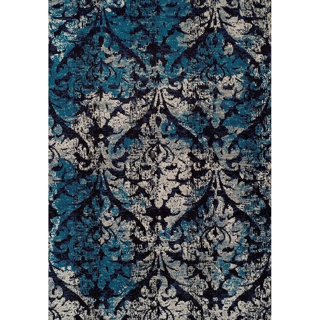 Copper Grove Evry Modern Blue And Grey Area Rug