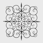 Buren Black Wrought Iron Scrolling Square Wall Art Overstock 27326741