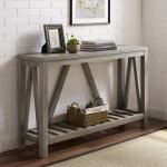 Modern Farmhouse Grey Wash A Frame Entryway Console Table Overstock 27799922