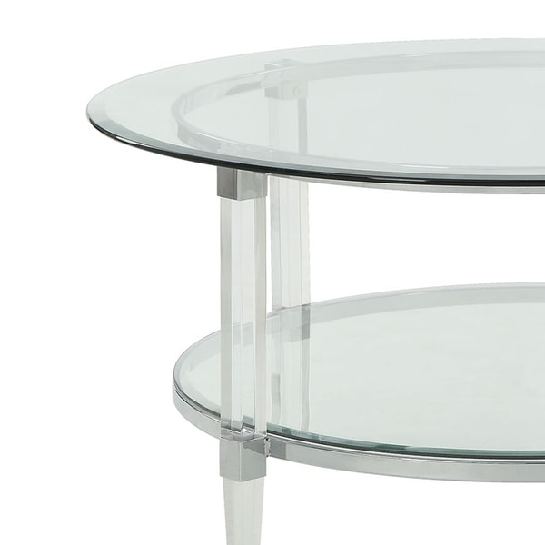 metal accented glass top oval coffee