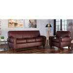 Made To Order Roma 100 Top Grain Leather Sofa And Chair Set On Sale Overstock 28077015