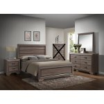 Shop Black Friday Deals On Large Scale Rustic Wooden Grey Queen Bedroom Set On Sale Overstock 28266120