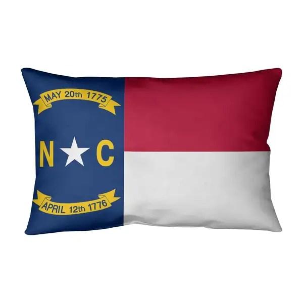 north carolina flag lumbar pillow