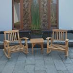 Shop Black Friday Deals On Leon 3 Piece Teak Small Patio Chat Set With Cushion By Havenside Home Overstock 28453943