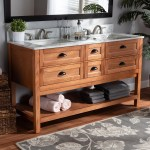 Farmhouse Country Double Sink Bathroom Vanity On Sale Overstock 28560648