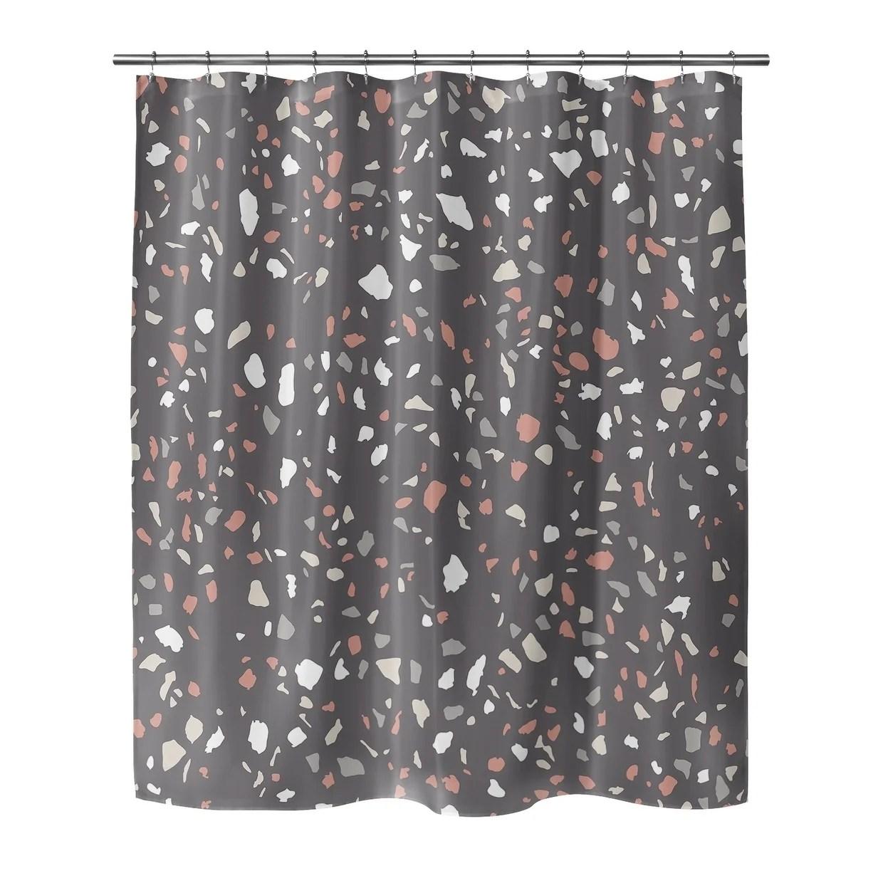 veneziana dark gray shower curtain by kavka designs