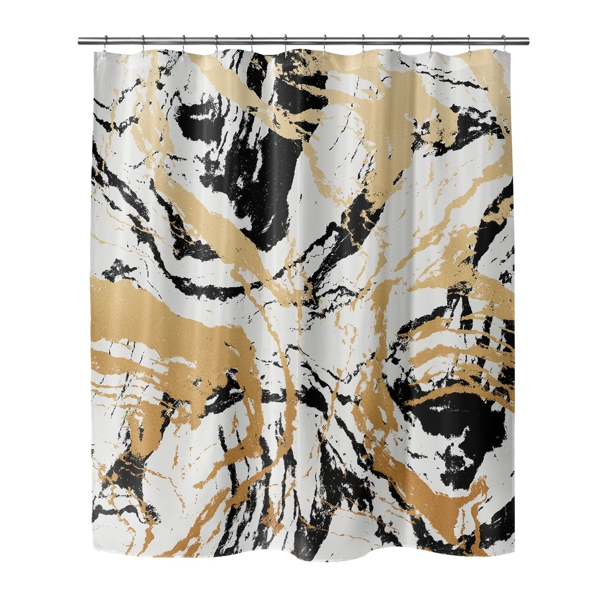 Marble Shower Curtain By Kavka Designs Overstock 28574168