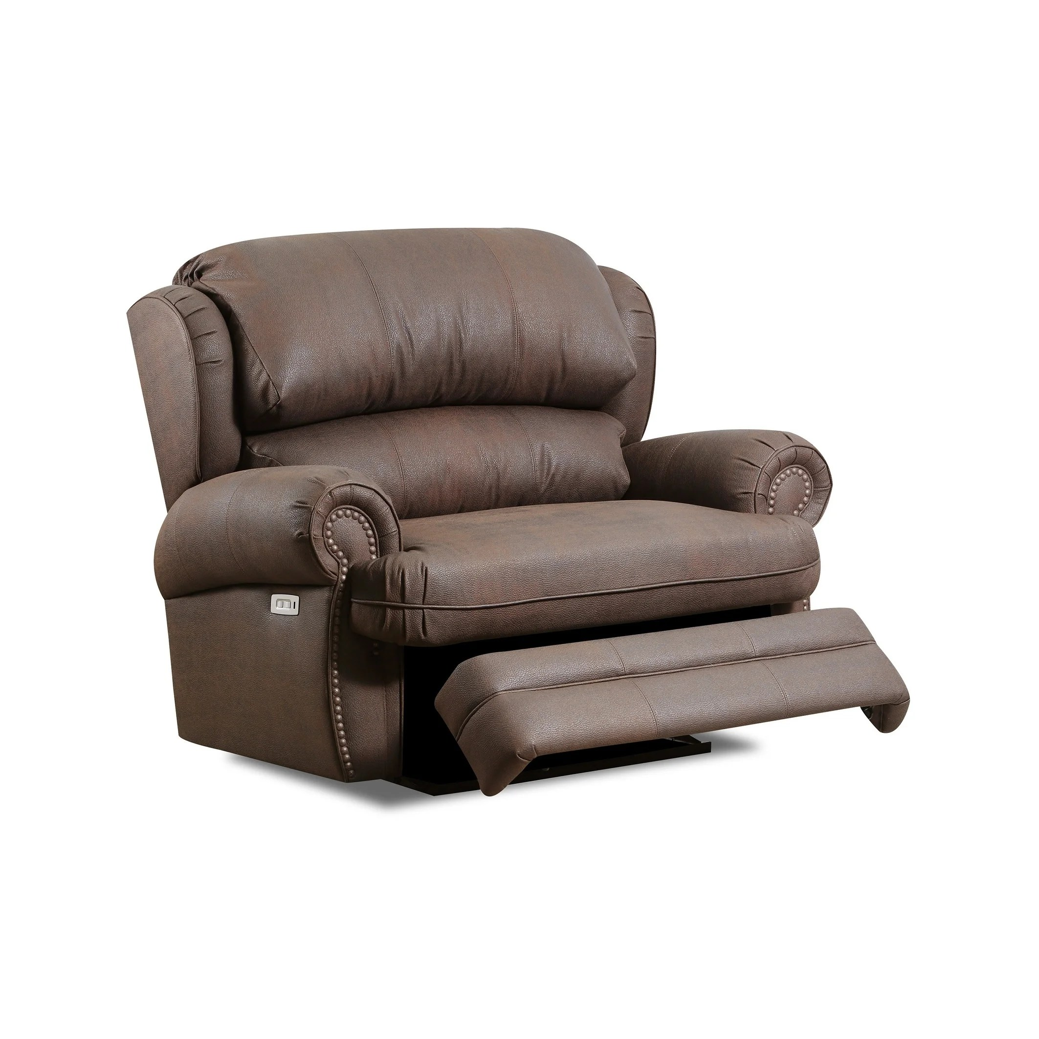 nichol faux leather cuddler power recliner