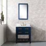 30 Inch Monarch Blue Single Sink Bathroom Vanity From The Madalyn Collection Overstock 28807304