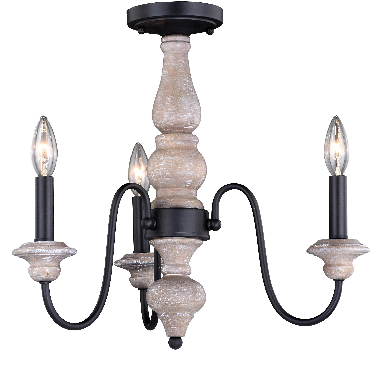 georgetown 19 in w gray wood farmhouse chandelier semi flush mount ceiling light 19 in w x 17 in h x 19 in d