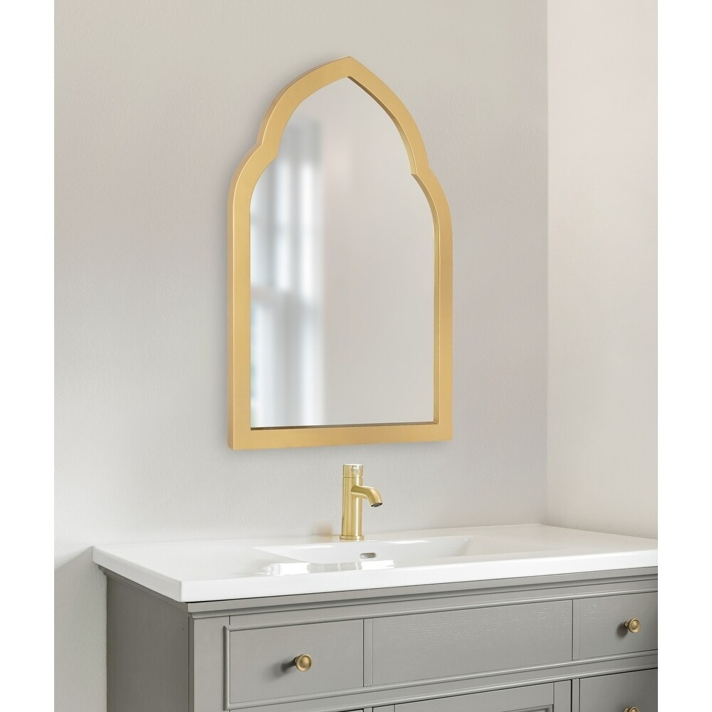 kate and laurel eileen framed arch mirror gold 20x30