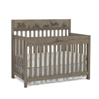 ED Ellen DeGeneres Forest Animals 4-in-1 Convertible Crib, Natural Grey