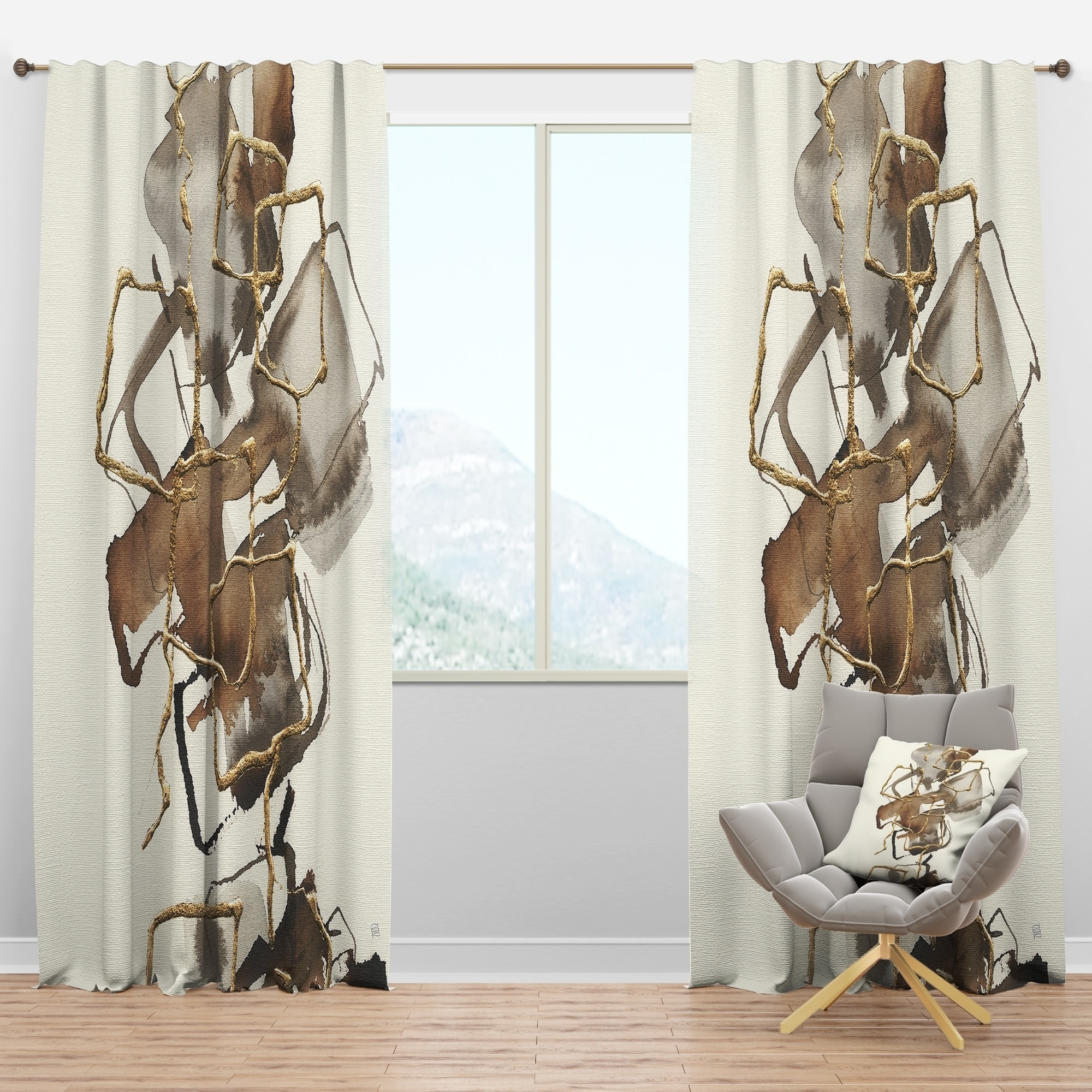 carbon loft hume modern and contemporary curtain panels 52 in wide x 84 in high 1 panel as is item