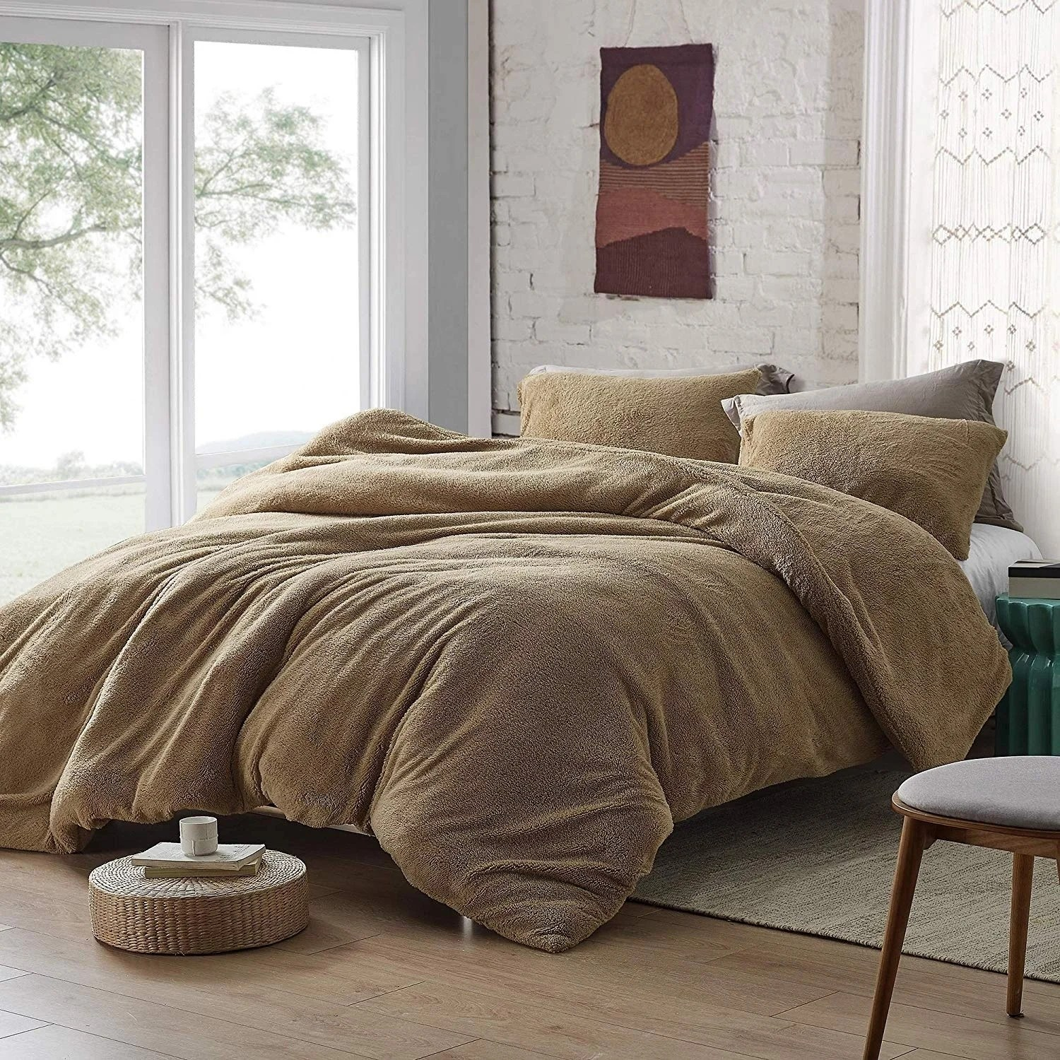coma inducer duvet cover teddy bear taupe natural