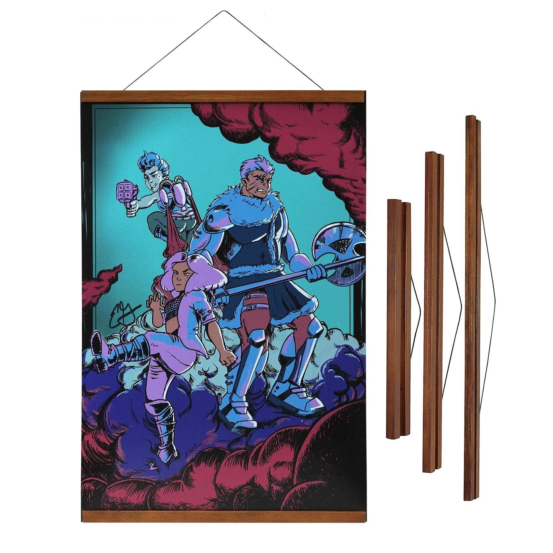 magnetic wooden poster hanger frame 12 18 or 24 wide
