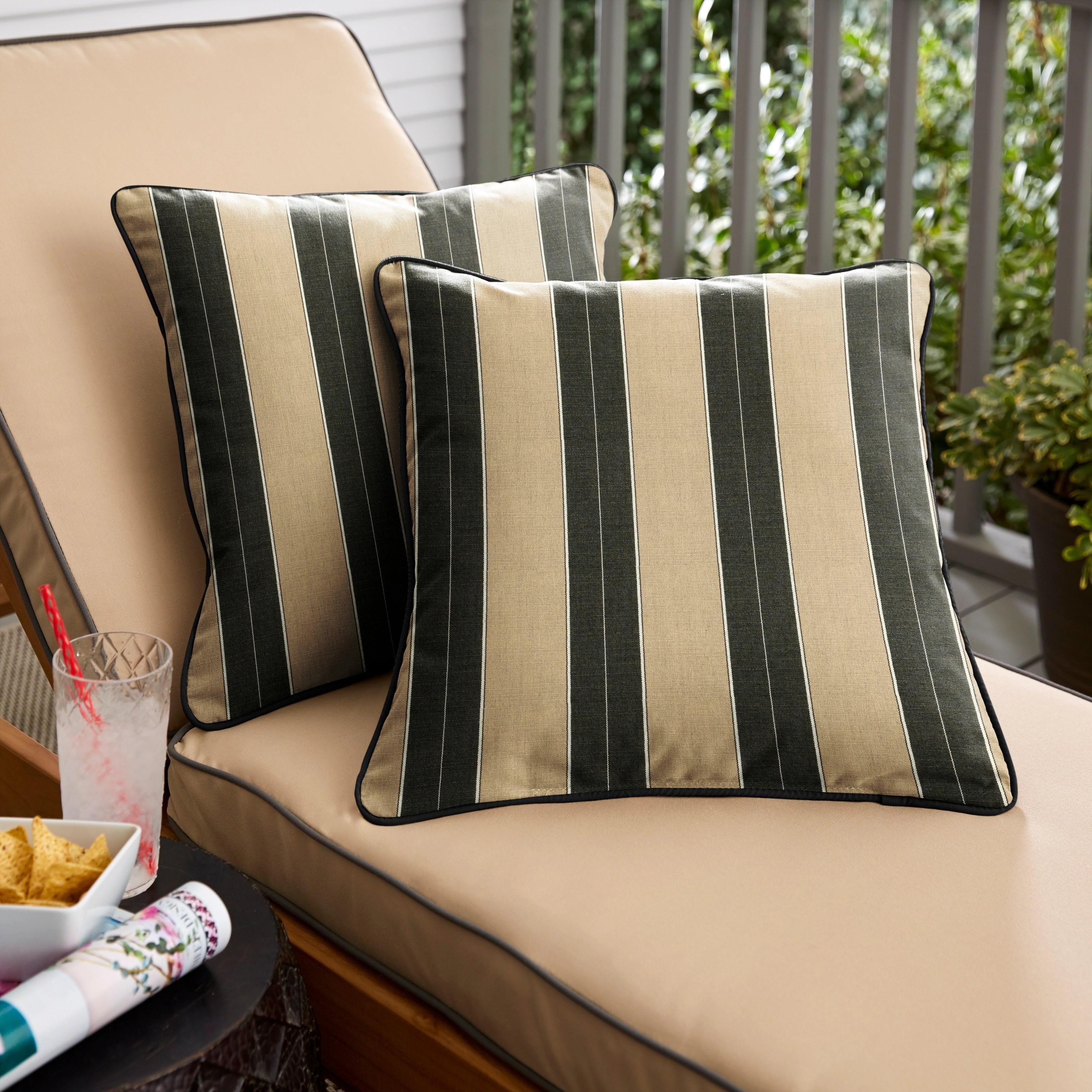 beige black stripe indoor outdoor