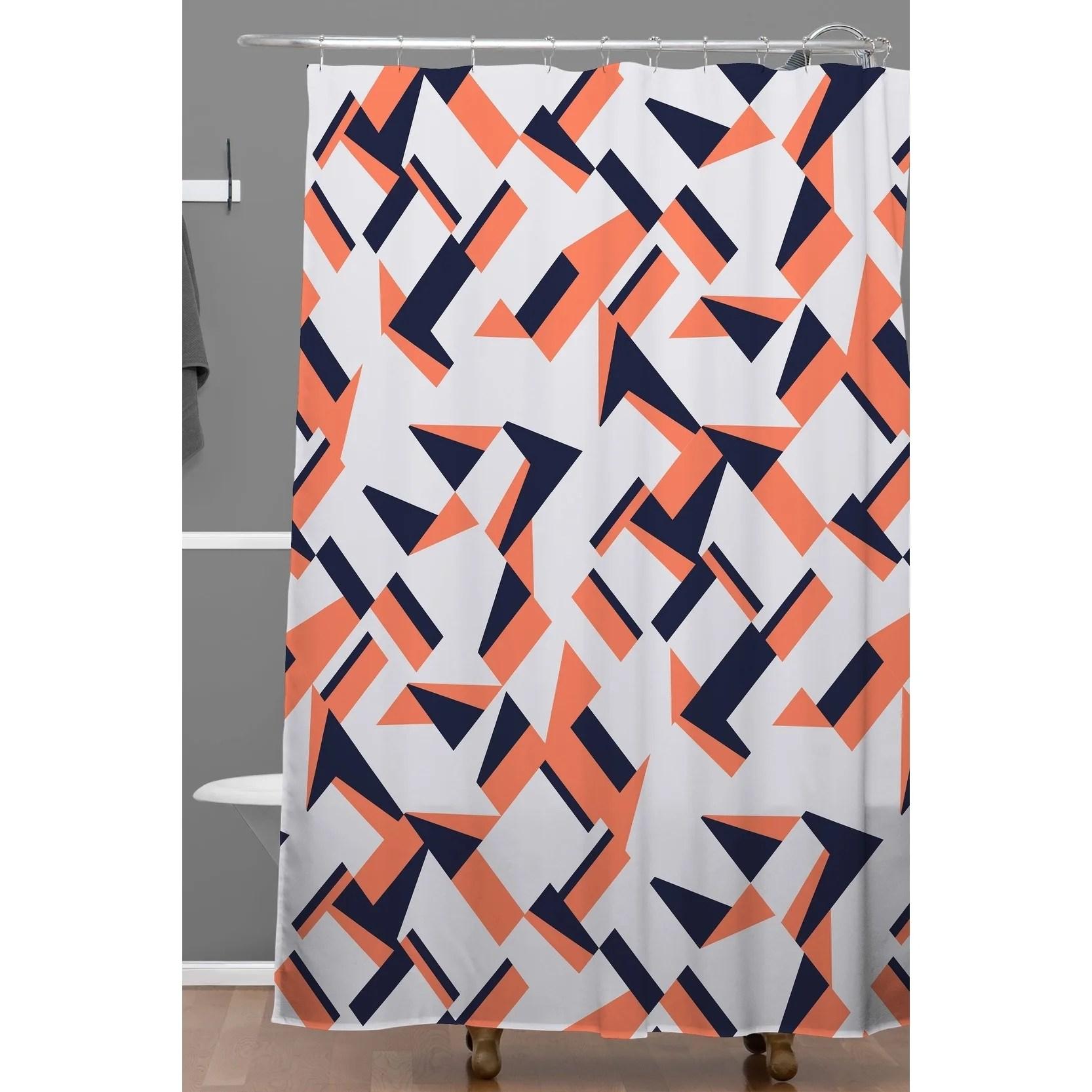 deny designs modern tile geometric shower curtain