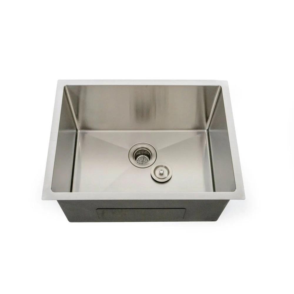 italia lavendaria series 24 undermount deep stainless steel laundry sink