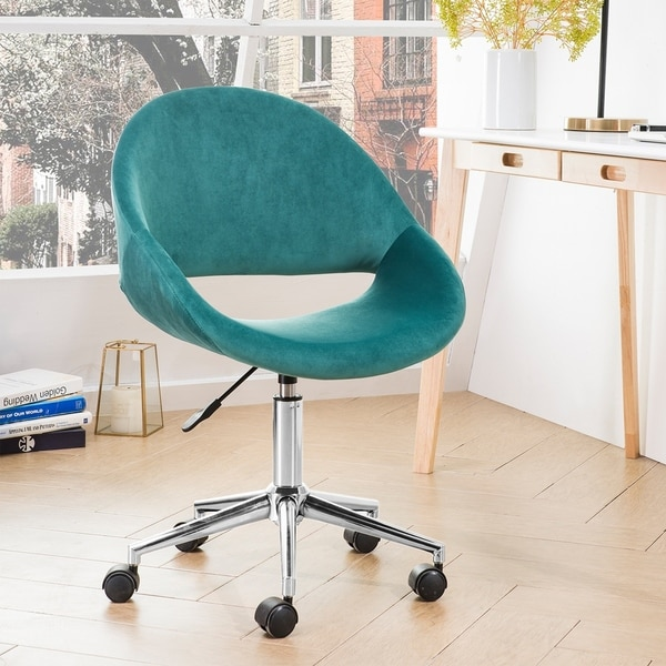 Shop Ovios Cute Desk Chair Plush Velvet Office Chair For Home Or Office Modern Comfortble Nice Task Chair For Computer Desk Overstock 29888007