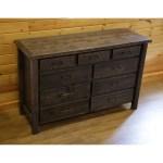 Barnwood Style Timber Peg 9 Drawer Dresser On Sale Overstock 29925035