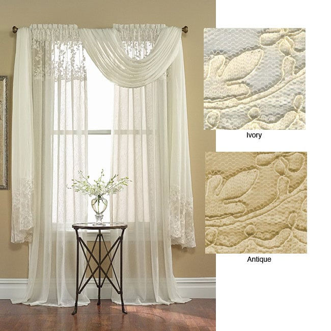 Bridal Lace 6 Yard Window Scarf Valance Free Shipping On Orders Over 45