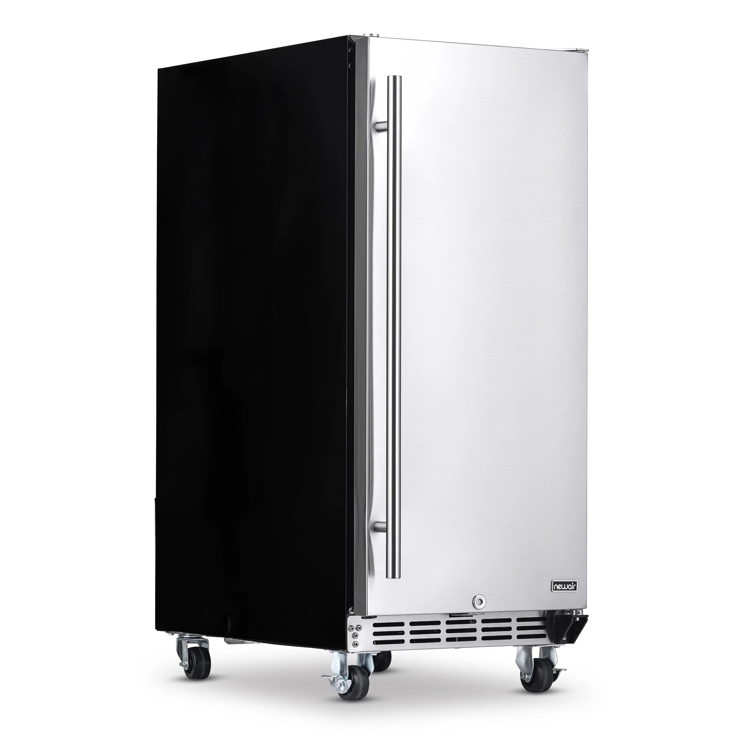 newair premium built in outdoor refrigerator 90 can storage beverage cooler center fridge for patio stainless steel