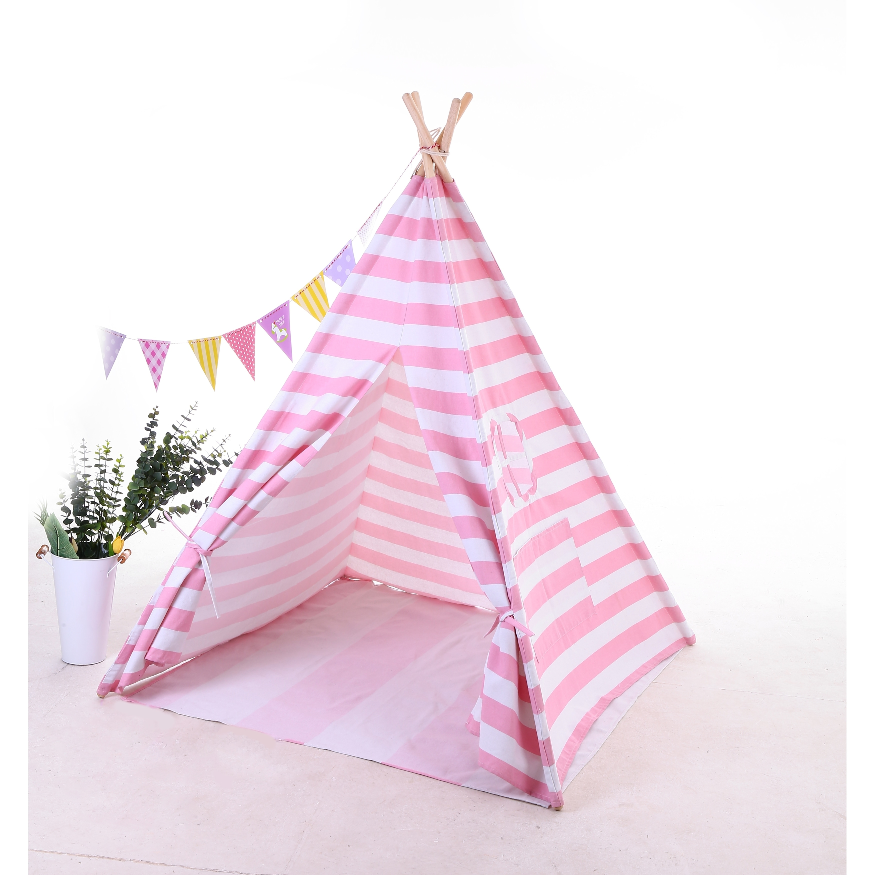 Shop Teepee Tent For Kids With Carry Case Cavas Toys For Girls Boys Girls Overstock 30260519