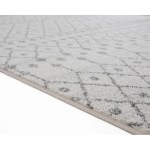 Luxe Weavers Pancras Moroccan Grey Off White Abstract Area Rug Overstock 30266792 5x7