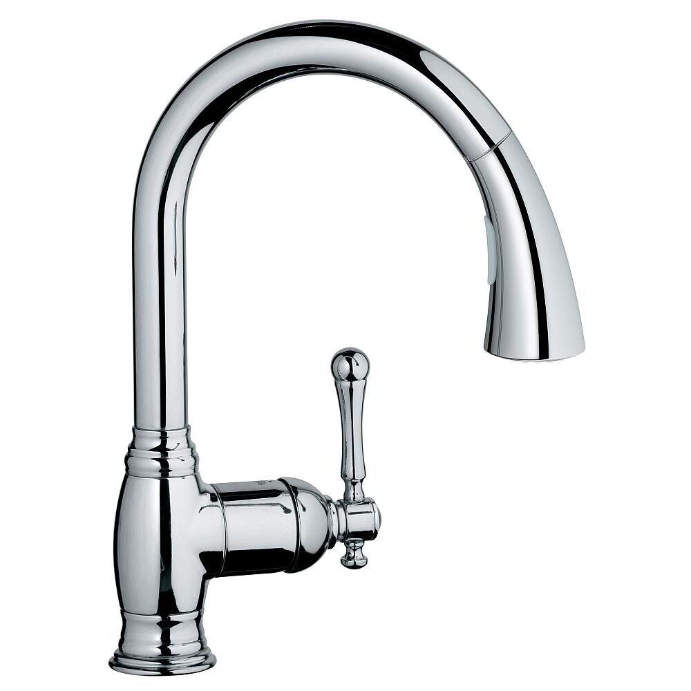 grohe bridgeford single handle kitchen faucet