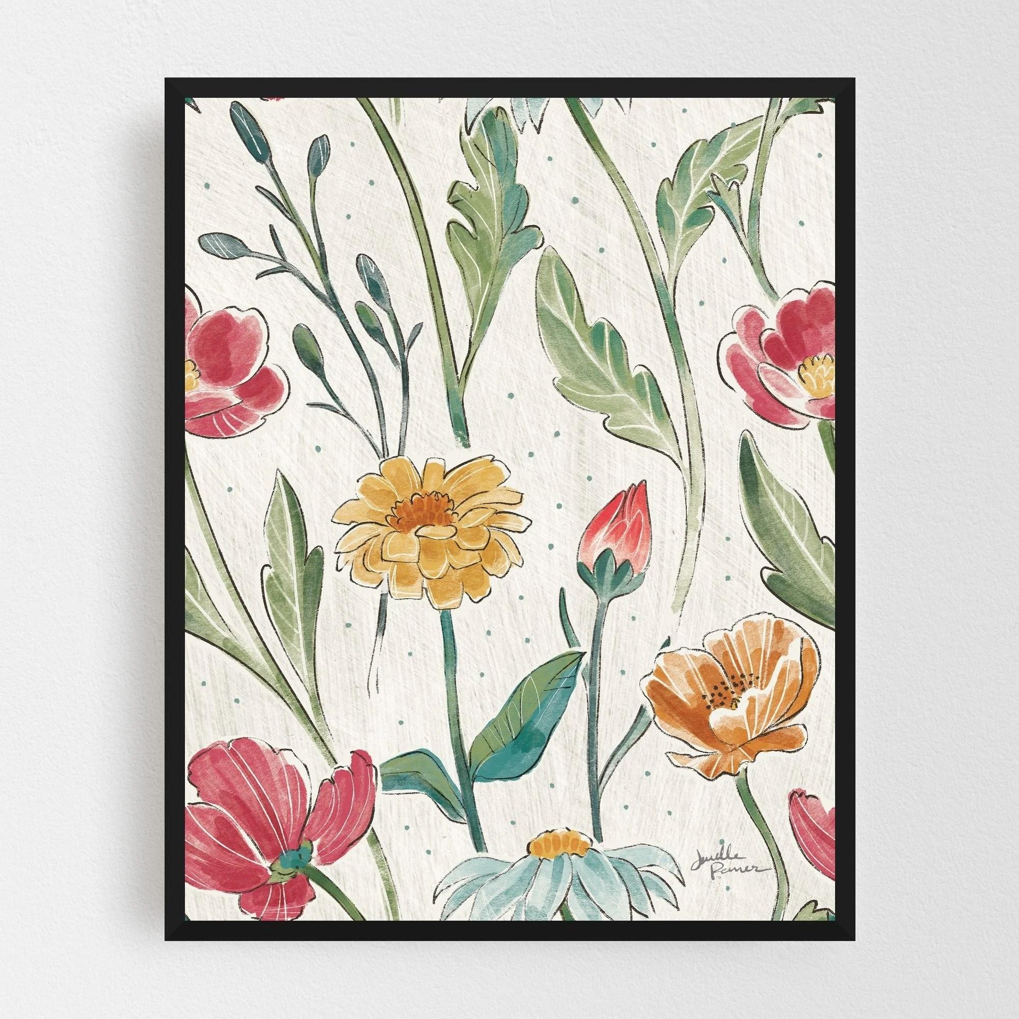 Noir Gallery Rural Floral Pastels Patterns Daisy Framed Art Print