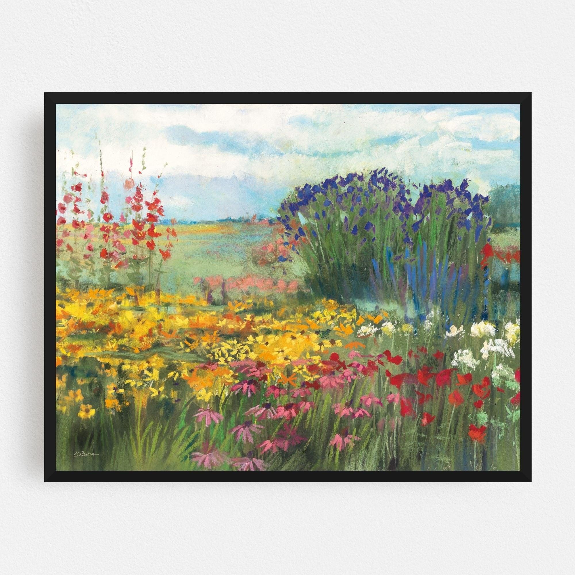 Noir Gallery Rural Floral Daisy Illustration Framed Art Print